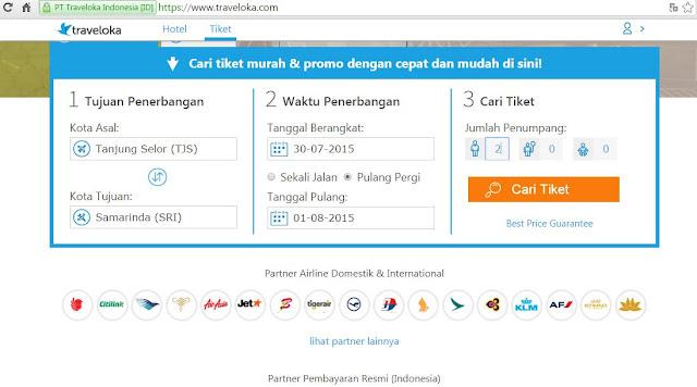 Cara Mudah Pesan Tiket Pesawat di Traveloka dengan Mandiri Clickpay