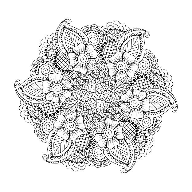 Adult Coloring Mandala