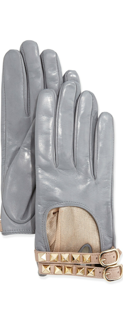 Valentino Rockstud Napa Driving glove