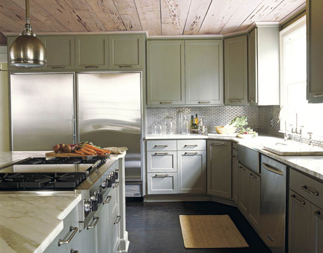 Design In Wood Kitchen Cabinets To The Ceiling