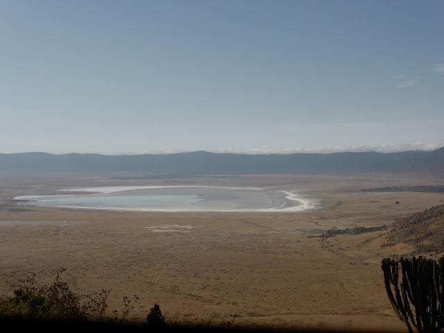 Lago Magadi (salado) en el cráter del Ngorongoro