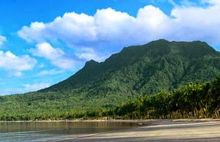 Lokasi Gunung Ranai di Kabupaten Natuna