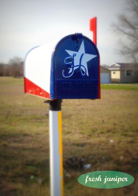 Fresh Juniper Abstract Texas Flag Mailbox Lone Star Proud