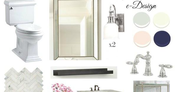 The Classy Woman Elegant Guest Bathroom Design