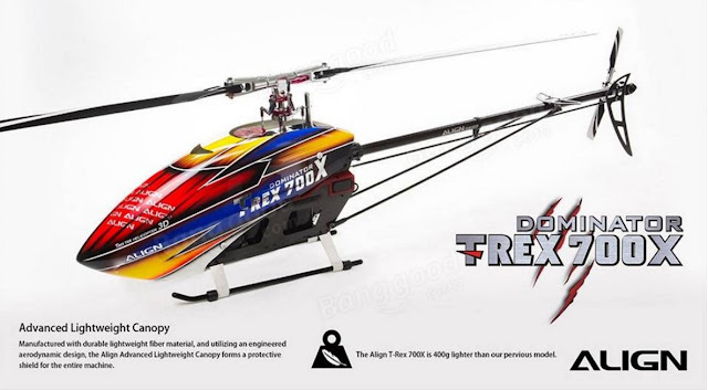 RC Helicopter Super Combo Align TREX 700X Dominator 3