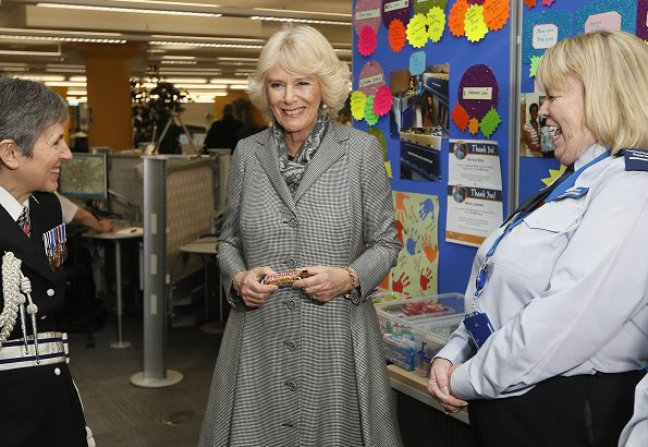 Duchess Camilla of Cornwall visited the Metropolitan Police Service Base to learn about TecSOS