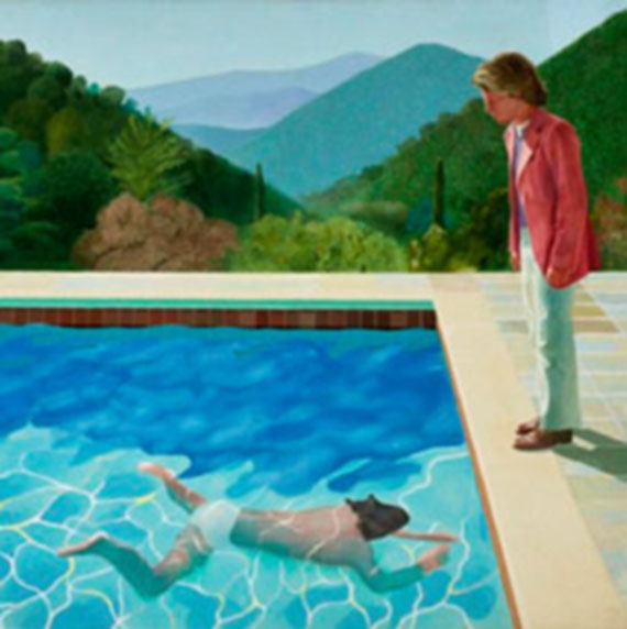 "David  Hockney: ""Retrato de un artista"", 1971"