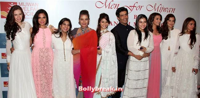 Dia Mirza, Aditi Rao, Parineeti Chopra, Kajol, Jaya Bachchan and Tanisha Mukherjee, Top Bollywood Celebs at Men For Mijwan Charity Fashion Show