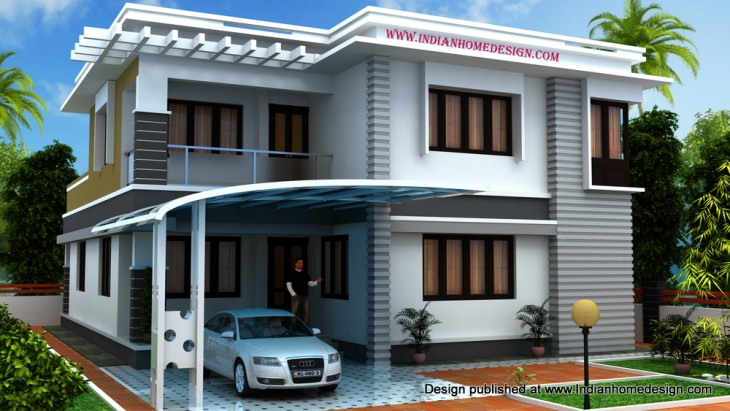 Design indian home free house plans naksha modern homes for South indian model house plan