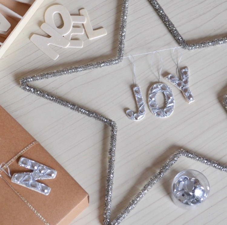 DIY Christmas | Gemstone Letter Decorations