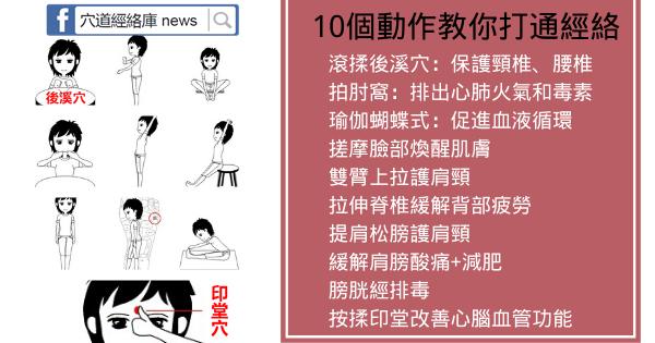 10張動圖教你打通經絡,記得每天做一遍(排火氣和毒素)