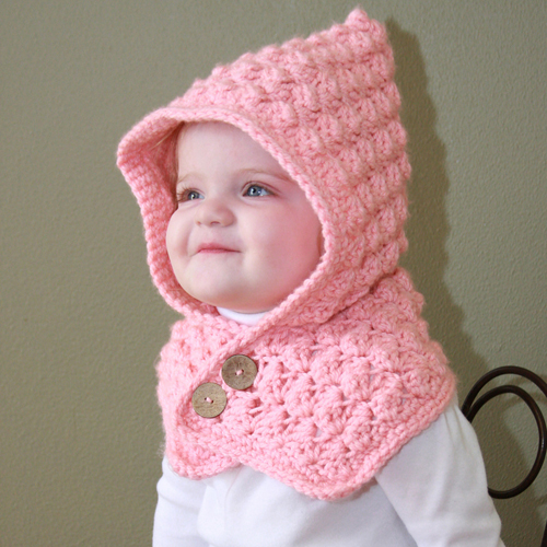 Textured Toddler Hood - Free Pattern