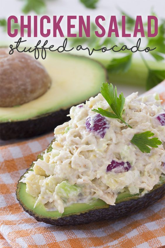 Chicken Salad Stuffed Avocado