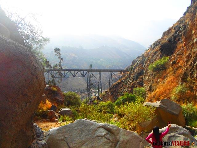 Puente Challape desde la cascada Challape