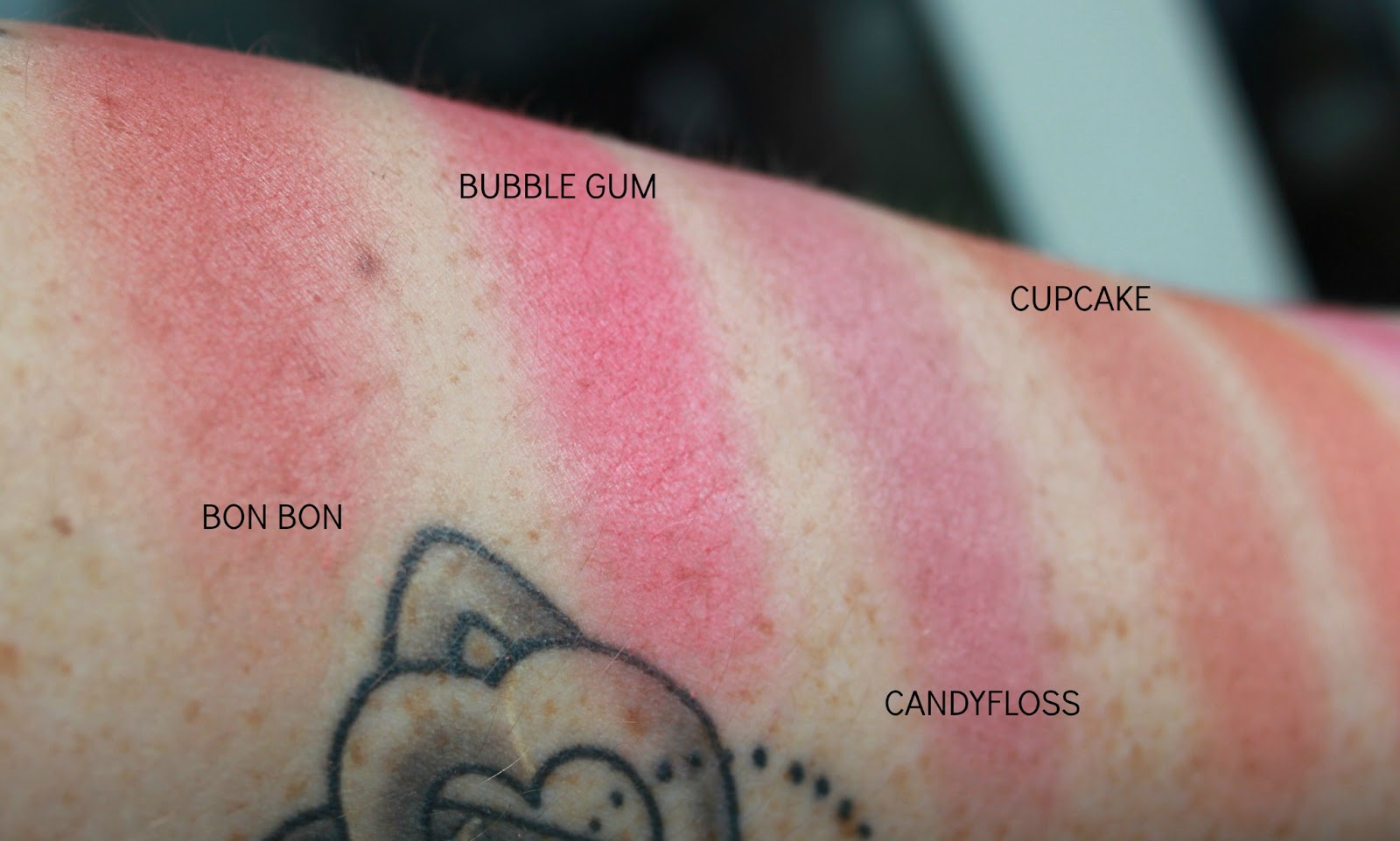 MUA POWDER BLUSHER SWATCHES