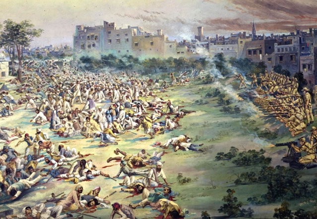 Amritsar Massacre painting