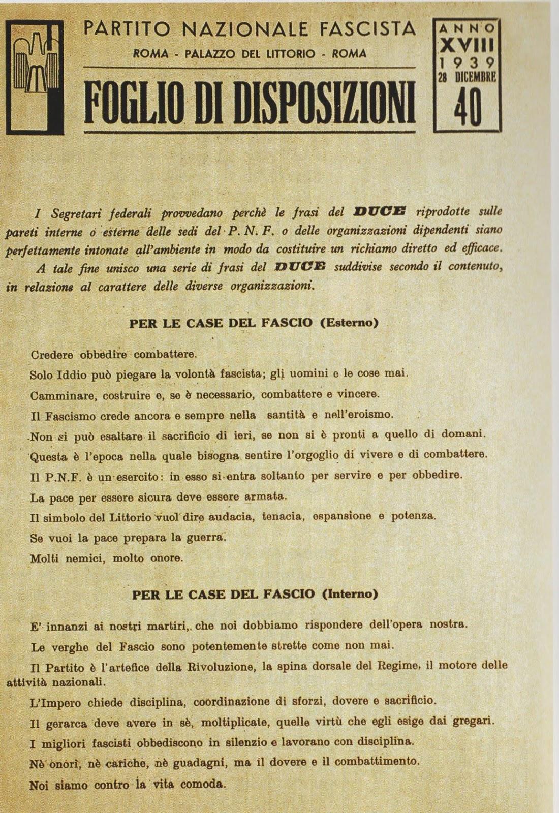 Frasi Famose Di Benito Mussolini