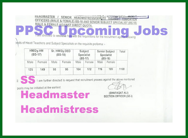 PPSC Upcoming Jobs 2019