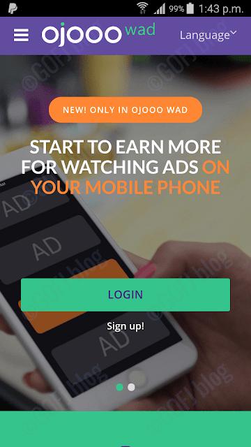 Ojooo wad mobile PTC app