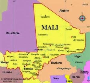 Peta Negara Mali