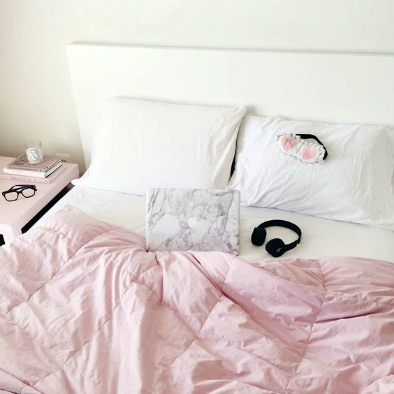 Pinterest Pink Girly Bed Flatlay