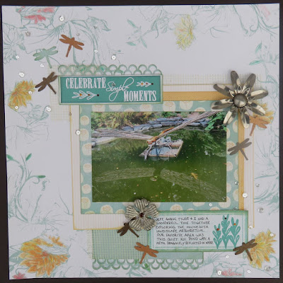 Special Moments Scrapbook Page featuring Windsong collection by Quick Quotes designed by June Swart