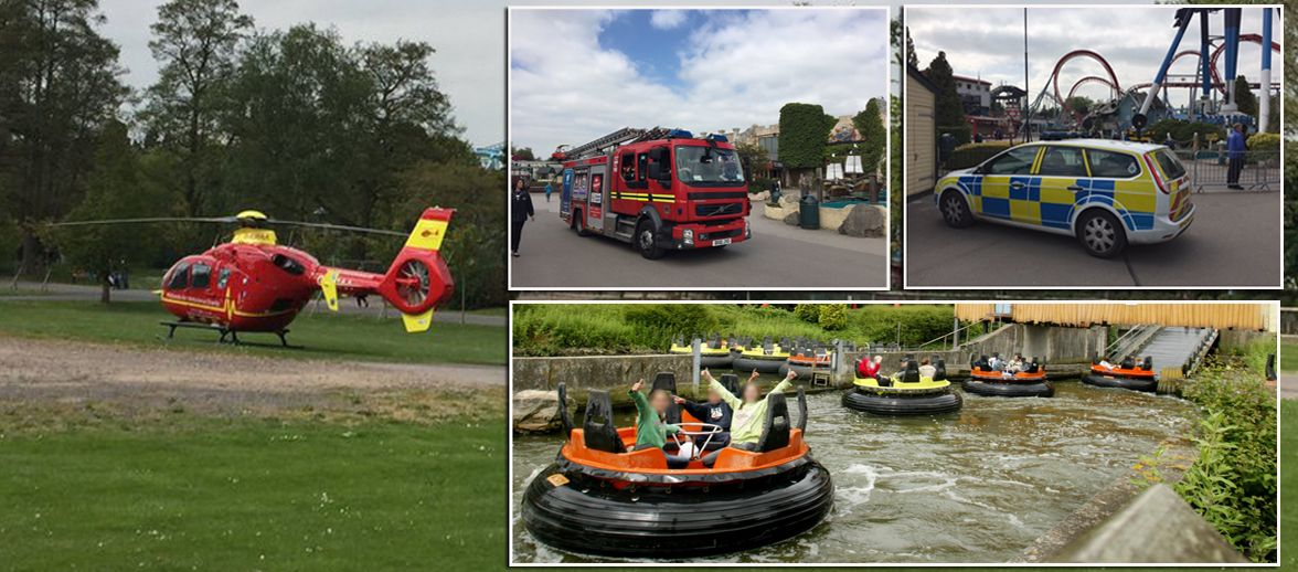 Girl, 11, seriously injured after 'falling from Splash Canyon ride' at Drayton Manor theme park