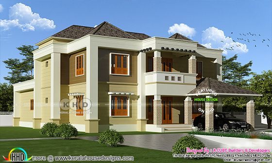 Colonial mix 4 bedroom house in 3980 square feet