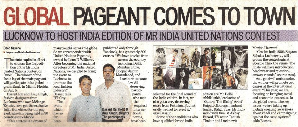mr india united nations male pageant