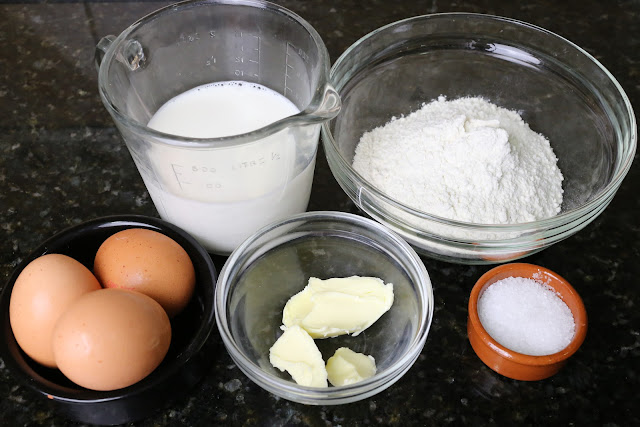 Ingredientes para crepes salados