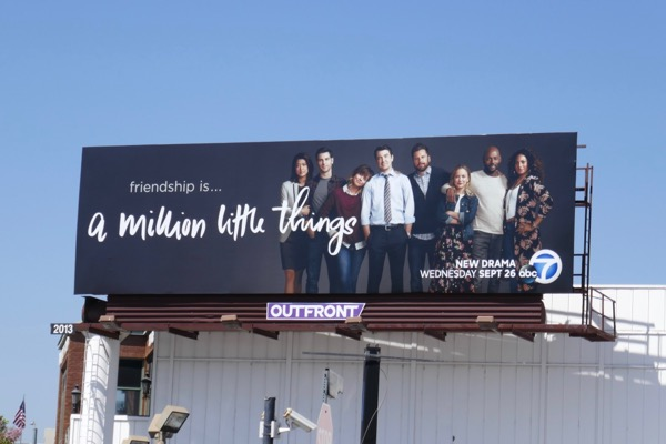 A Million Little Things series launch billboard