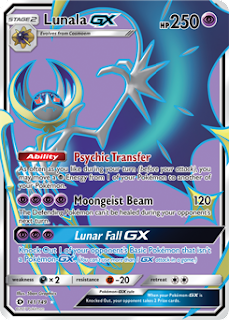 Lunala GX Sun and Moon Pokemon Card