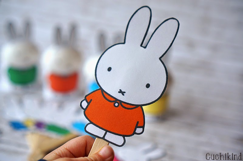 Miffy am Stiel - Printable