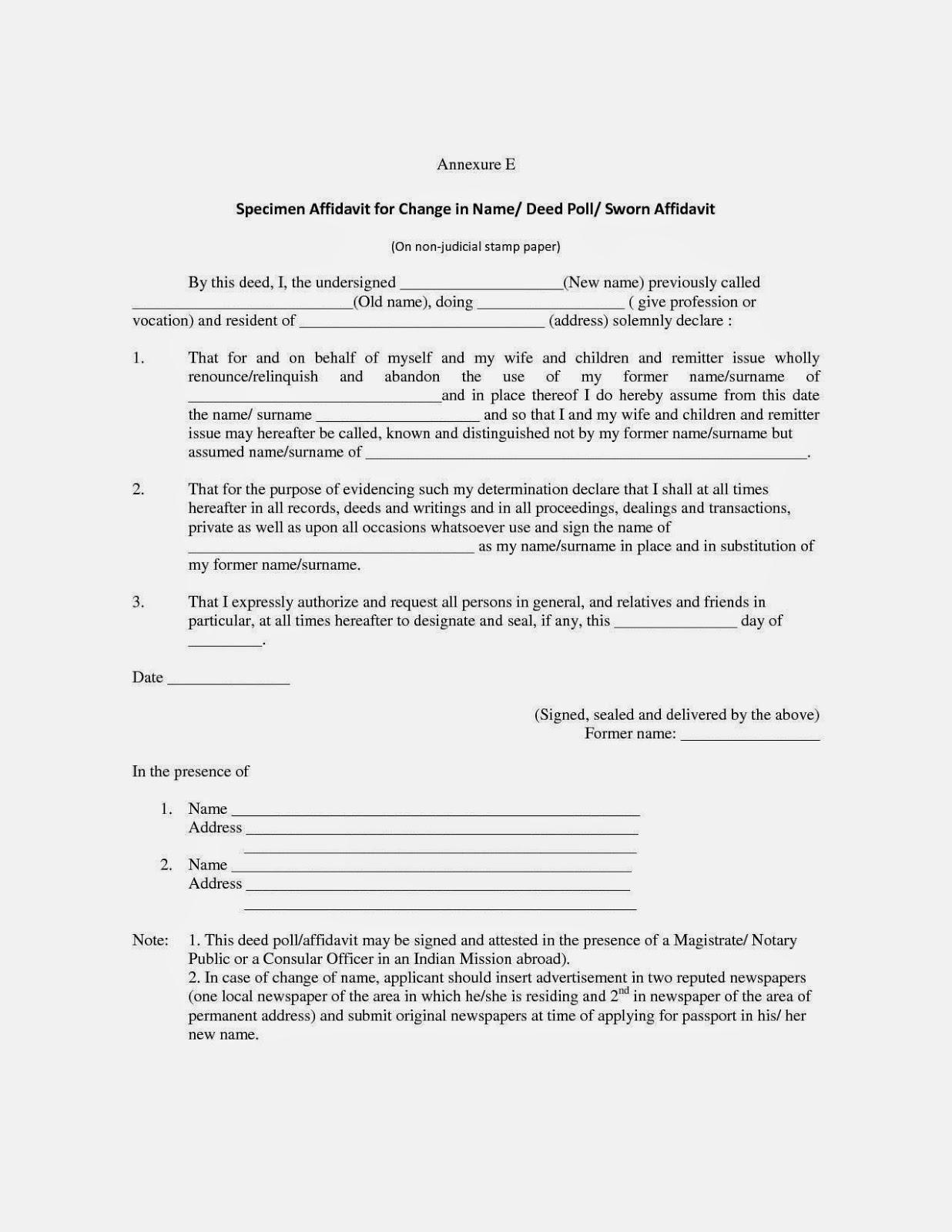 Doc12751650 Sworn Affidavit Form Sample Sworn Affidavit Sworn – Free Affidavit Form Template