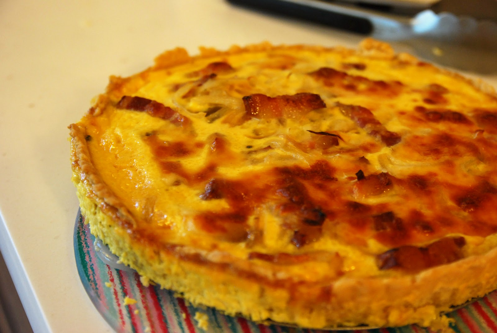 Quiche lorraine joie de vivre blog by g4gary i roughly followed the recipe from bbc good food its not the prettiest quiche but at least it tasted alright i think forumfinder Image collections