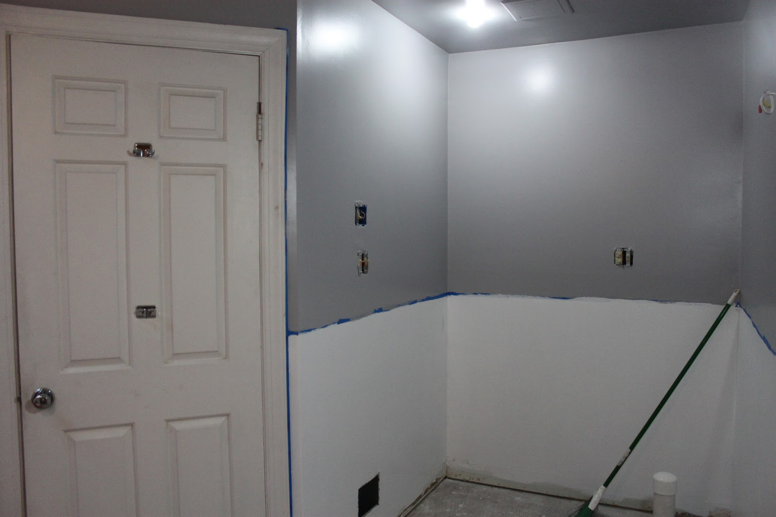 Pat S Addition Renovation Bathroom Paint Progress