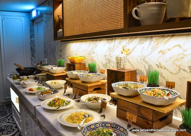 Arabic mezze at Al Dawaar Revolving Restaurant