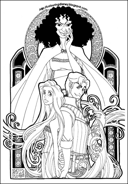 Disney Coloring Pages Brings You This Coloring Page  It Shows Flynn And  Rapunzel And Is Quite An Unusual Coloring Page  It Is Quite Intri