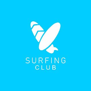 Surfing Club Logo Free Download Vector CDR, AI, EPS and PNG Formats