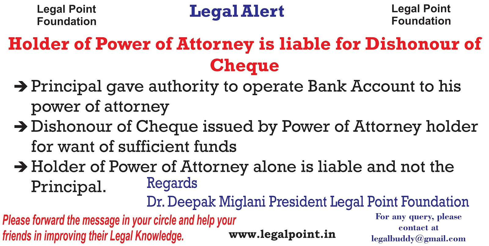Legal Point: Legal Alert::Holder of Power of Attorney is ...