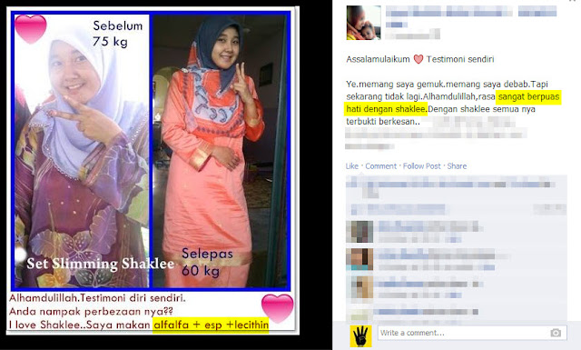 Image result for testimoni set kurus shaklee