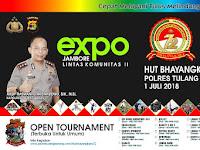 Peringati HUT Bhayangkara ke 72, Polres Tulang Bawang Gelar Expo Jambore Lintas Komunitas II