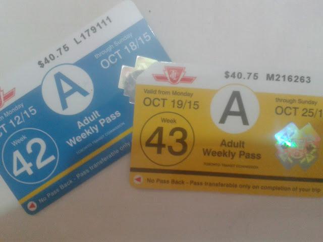 Passe semanal para metrô, ônibus e streetcar em Toronto