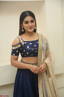 Niveda Thomas in Lovely Blue Cold Shoulder Ghagra Choli Transparent Chunni ~  Exclusive Celebrities Galleries 034.JPG