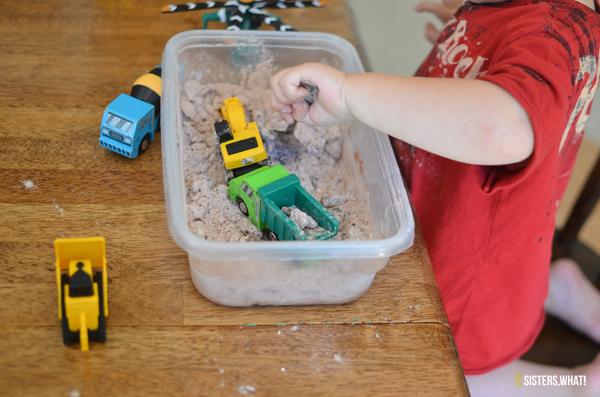winter or summer indoor activity play dirt