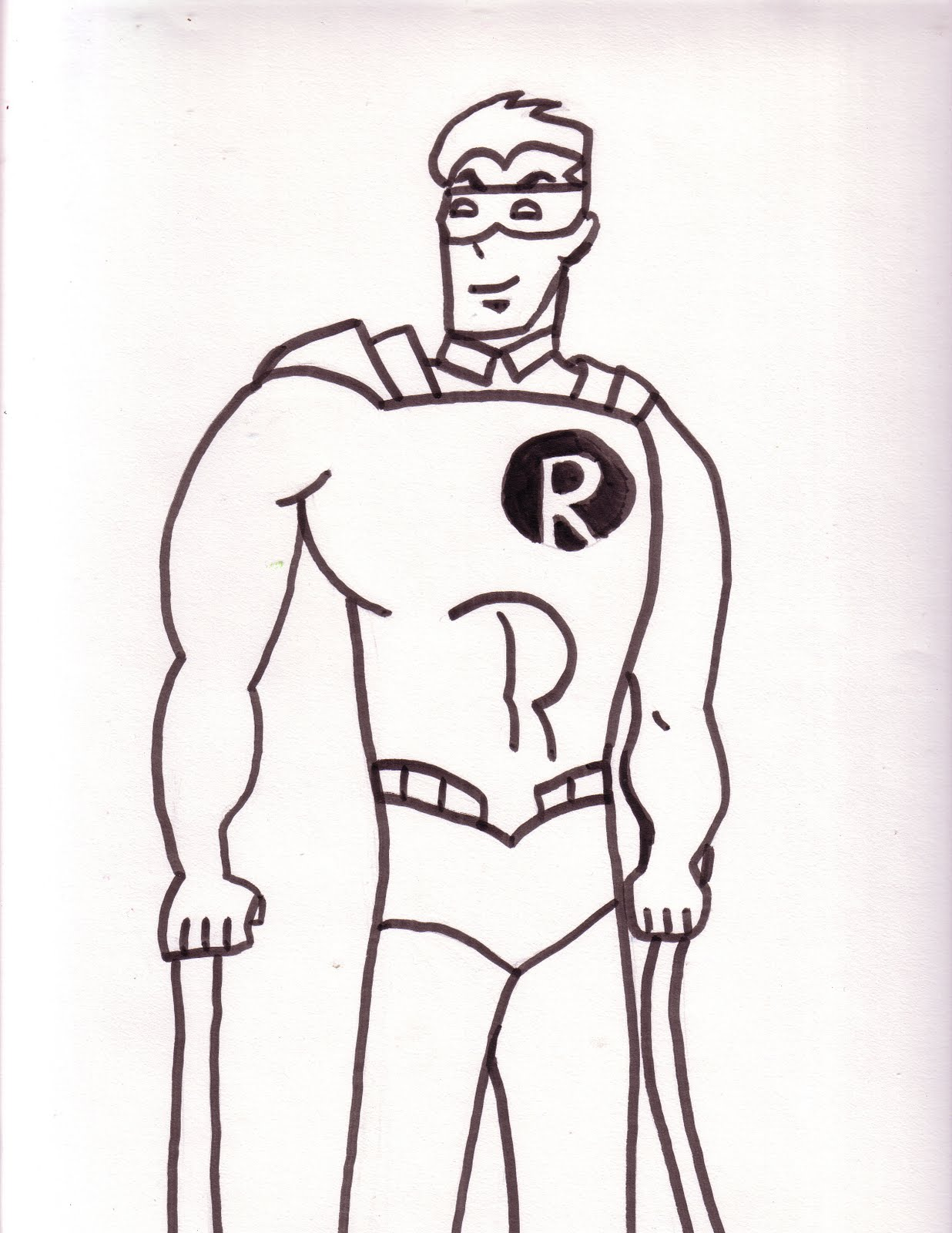 coloring pages batman robin - photo #33