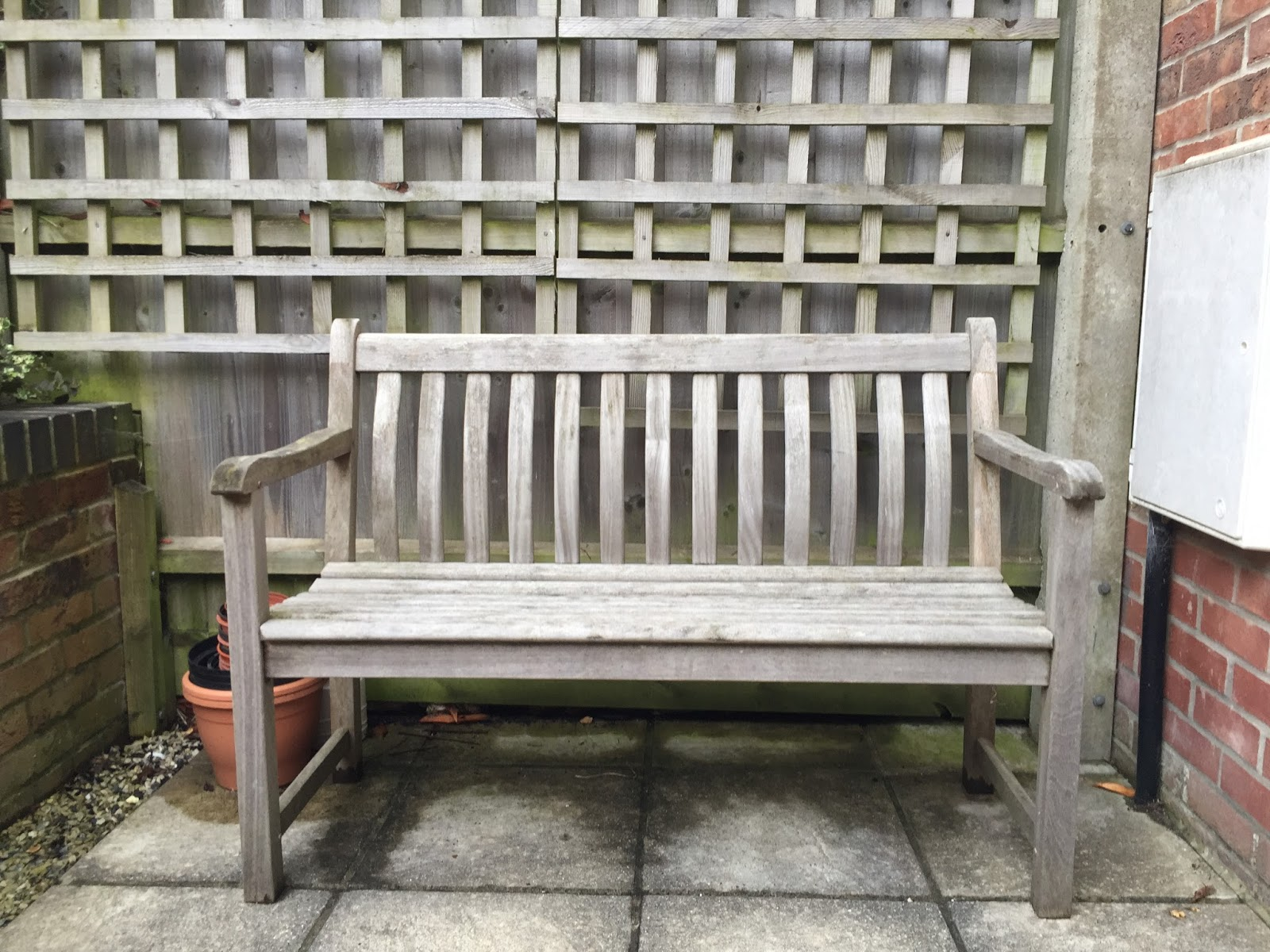 The original bench in need of some TLC