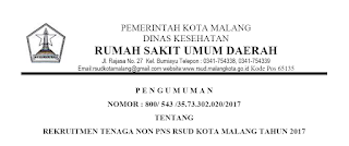 Lowongan Kerja NON PNS Tenaga Medis RSUD Kota Malang