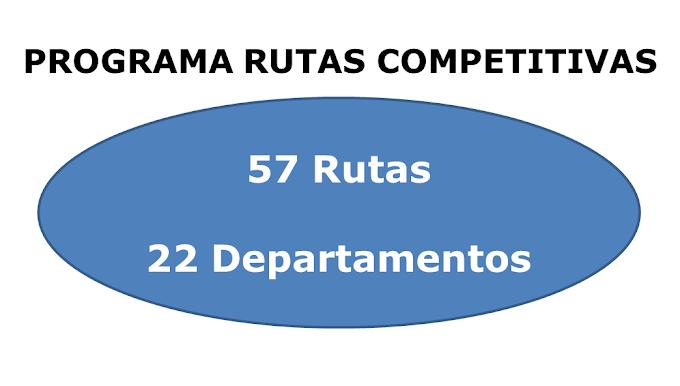 Las 57 rutas competitivas
