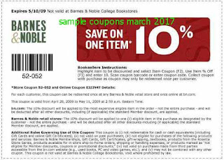 free Barnes and Noble coupons for march 2017
